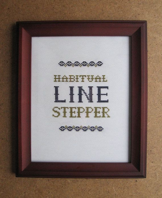 Dave Chappelle's Show Quote Cross Stitch Pattern: Line Stepper via Etsy