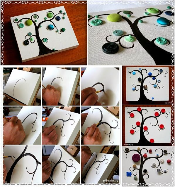 Diy Projects: DIY Button Tree Tutorial
