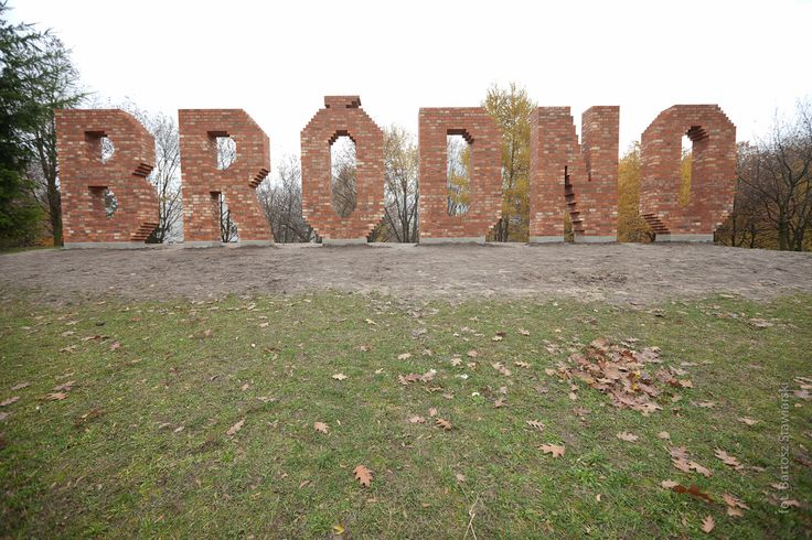 A massive sculptural installation made of bricks and cement: Bródno sign rising on a park hill. The work by Jens Haaning has become a logo of the neighbourhood.:)
