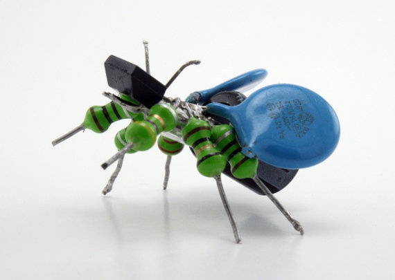 PCBugs  Adopt an Upcycled Electronic Friend Today by go2geek, $19.00