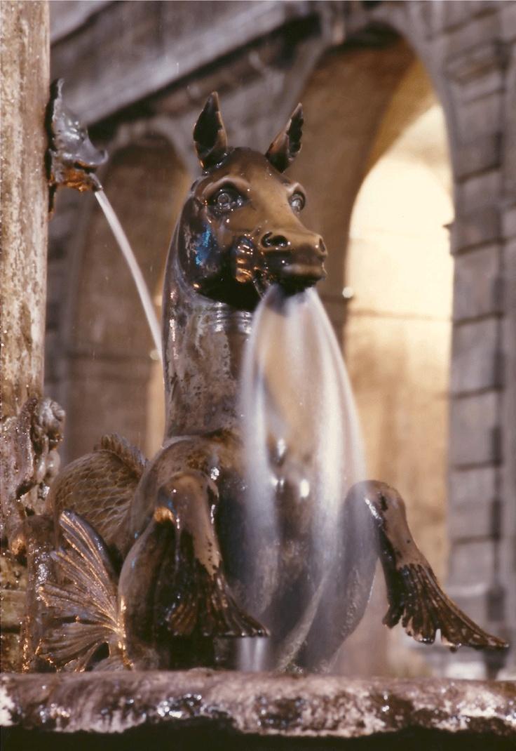 #Ascoli Piceno - Fioravanti Gabriele - Particolare della Fontana di Piazza Arringo. #AscoliPiceno - Detail of the fountain in Piazza Arringo. #Italy