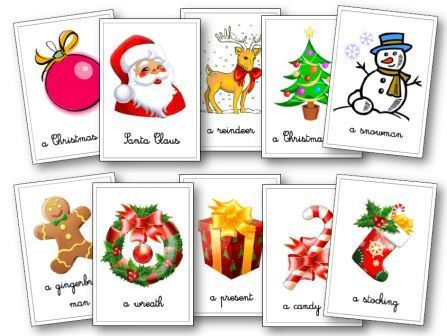 Flashcards anglais Noël