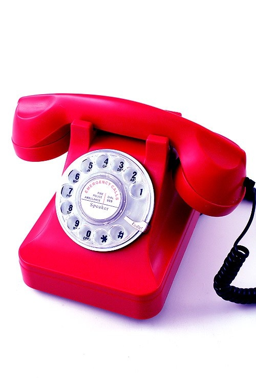 Teléfono de sobremesa para los que quieren decorar su casa al estilo retro.