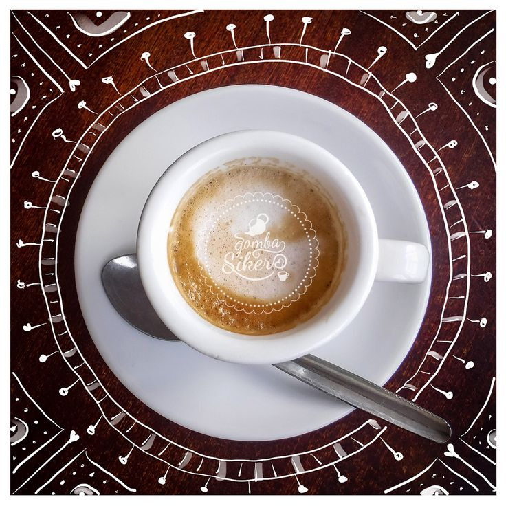Kávé s mandala Apple cerkával #applepencil #mandala #gombasiker