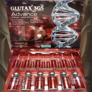 Glutax 3GS Advance merupakan produk pengembangan Glutax 3G yang disempurnakan dengan tambahan 300mg vitamin E, 250mg Pro Vitamin B3, dan 100mg Pro Vitamin B5. Glutax 3GS Advance juga berisi 1 sesi lebih banyak dengan kemasan 6 sesi/pack. Nb: Hati2 dengan beredarnya produk glutax tiruan dengan tulisan GMP palsu. Sertifikasi GMP tidak umum digunakan pada produk anggota european union.