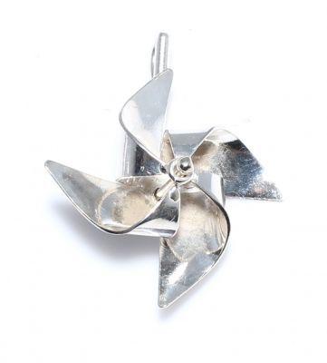 925 Ayar Gümüş Rüzgar Gülü Kolye Ucu