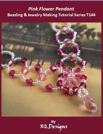Pink Flower Pendant Jewelry Making Tutorial - diy beading club