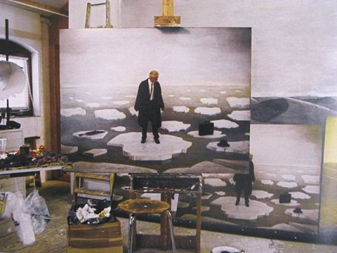 Man on Ice, studio