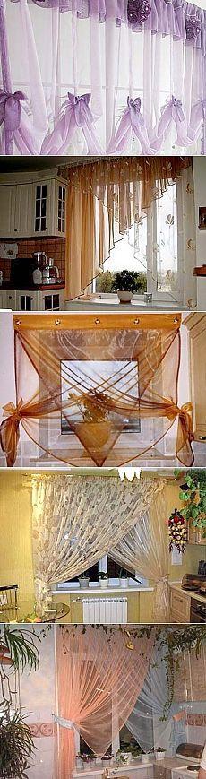 Романтичные шторы для вашей кухни: нежный и красивый дизайн - Учимся Делать Все Сами