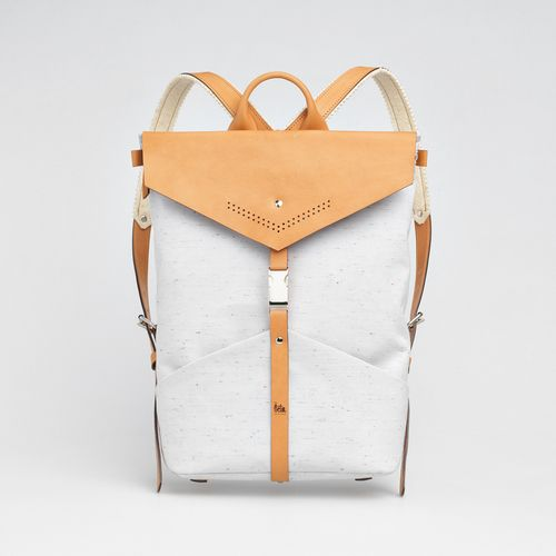 TheBétaVersion Ezra rucksack in grey marled with laser cut details