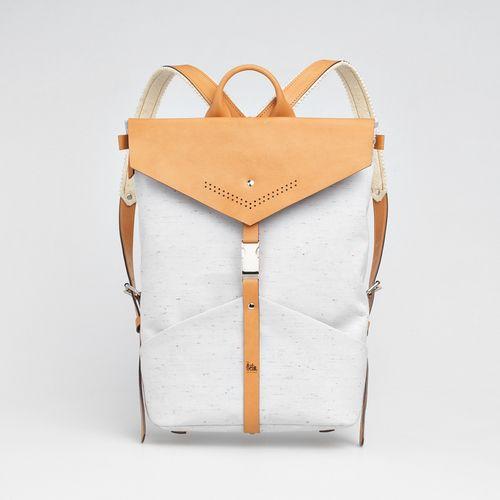 TheBétaVersion Ezra rucksack in grey marled with laser cut details