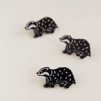 Badger Enamel Pin