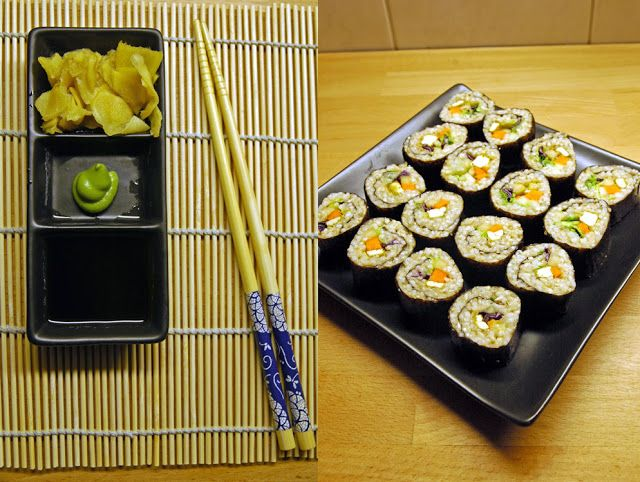 Gari für Sushi selbstmachen und veganes Sushi
