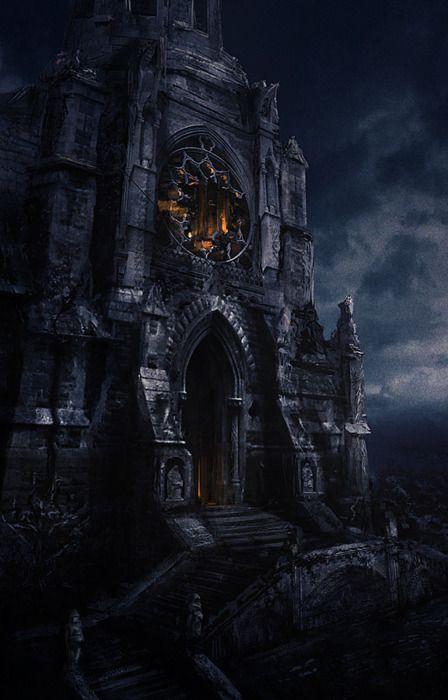 The light...eerily creepy, a perfect halloween house