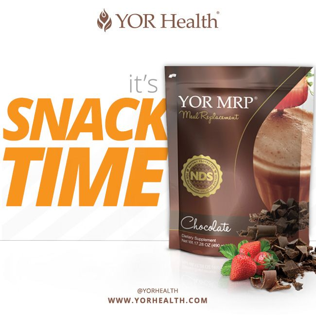 Our favorite - YOR Chocolate Shake. Great for a snack as well as a meal replacement! Helps you shed pounds, and cut cravings for sugar with it's delicious, velvety chocolate taste :)