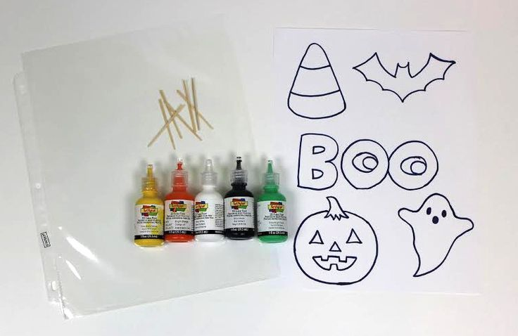 Halloween Window Clings - A Little Craft In Your DayA Little Craft In Your Day -  Let them dry overnight. Then peel the window clings off of the sheet protector.