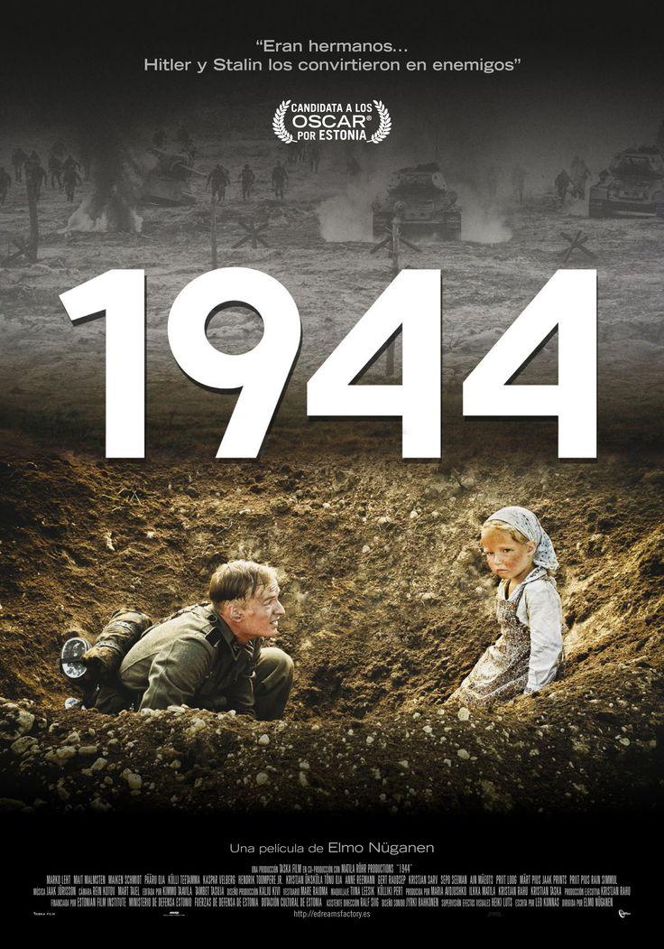1944 / Elmo Nüganen.  IIª GUERRA MUNDIAL, los acontecimiento de la guerra en 1944 en las Colinas Azules, Peninsula de Srve, suelo Estonio. Mostrado por los ojos de los soldados estonios que tuvieron que escoger bando (unos fueron afectos al Ejercito Rojo, otros a Waffen SS), desarrollandose una lucha fraticida. 70 años despues, se tratan de mostrar las opciones hechas, esperanzas, objetivos y dramas de estos hombres y sus seres queridos ....