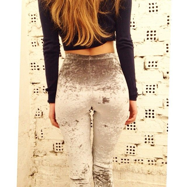 The PCP Grey Velvet leggings