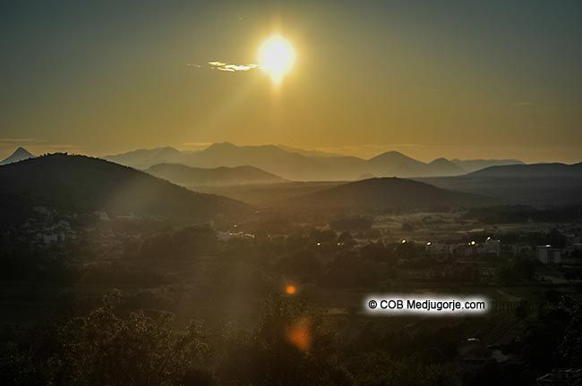 Sunset in Medjugorje