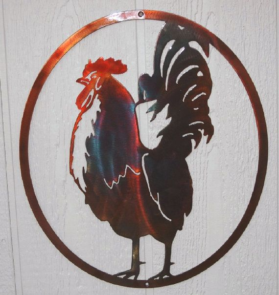 Check out this item in my Etsy shop https://www.etsy.com/listing/292132113/rooster-in-oval-country-kitchen-metal