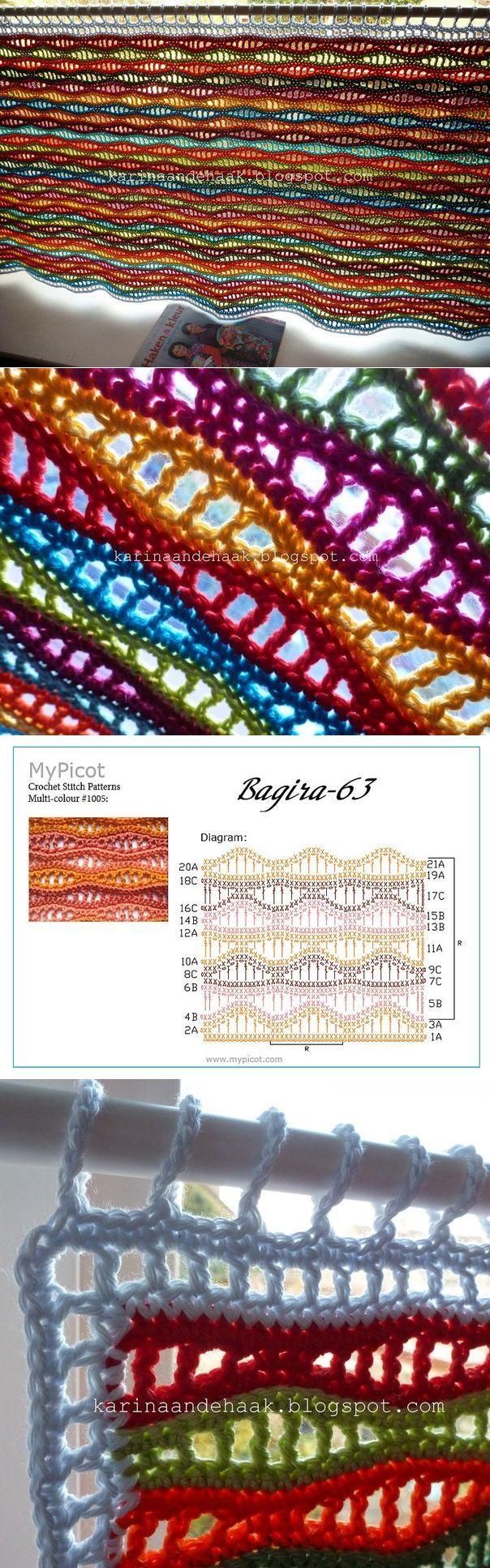 La cortina multicolor.  Los restos de hilo - en el caso!