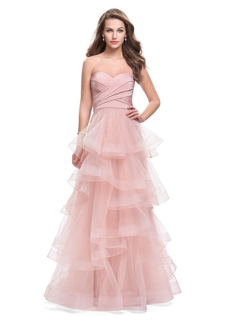 Shop the new collection of La Femme dresses, featuring La Femme 25430. La Femme dresses and evening gowns are the perfect choice for Prom Dresses, Pageant Gowns, Graduation Dresses, Social Occasion Dresses, and Military Ball Dresses.Fabric: Tulle
