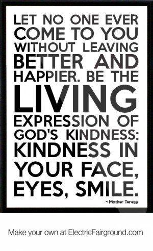 Mother Teresa Framed Quote