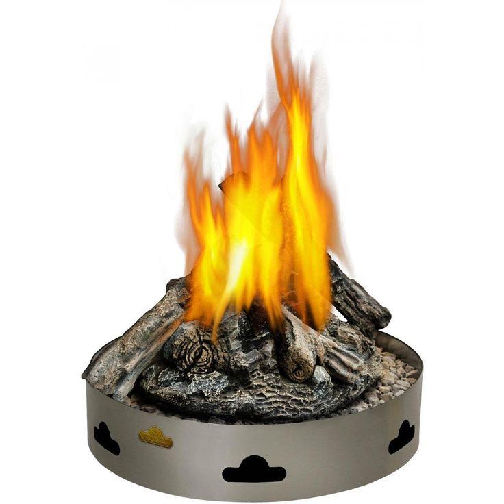 Napoleon Patioflame 60,000 BTU Propane Gas Fire Pit Burner With Logs Napoleon Patioflame 60,000 BTU Propane Gas Fire Pit Burner With Logs