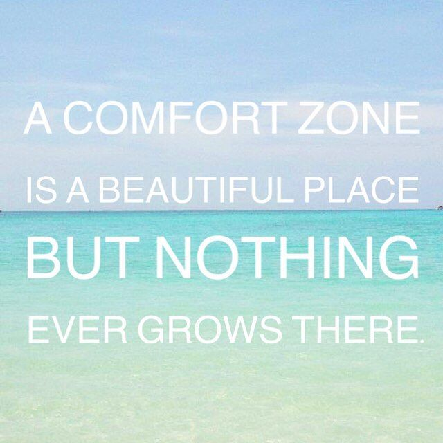 """A comfort zone is a beautiful place, but nothing ever grows there."" #beach #ocean #quote"
