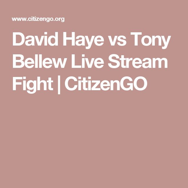 David Haye vs Tony Bellew Live Stream Fight | CitizenGO
