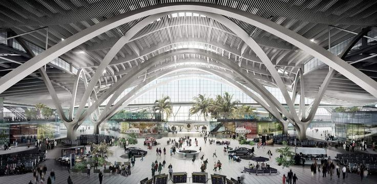 Large Span Structure Abu Dhabi Airport Design Travel