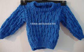 Tania Artesanatos: Blusa Gabriel - 2 anos