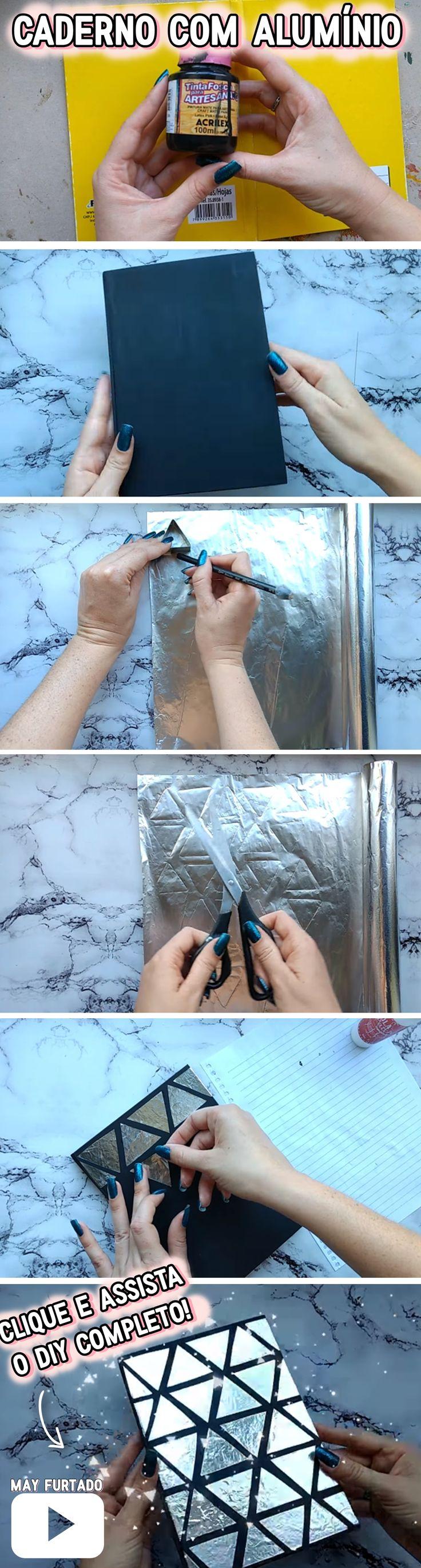 DIY com papel alumínio: Como customizar o caderno usando materiais que você já tem em casa, sem gastar!