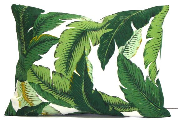 Outdoor Pillow Sale, 12x16 or 12x18 inch Green Pillow Cover, Tommy Bahama Pillow, Decorative Pillow, OUTDOOR Pillow, Tropical Pillow,Cushion