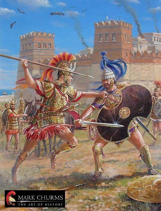 Achilles killing Hector