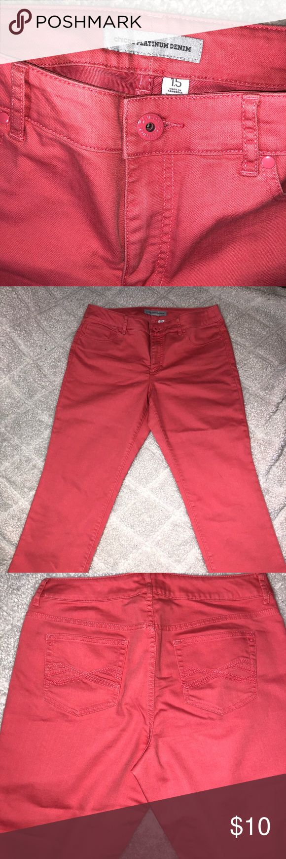 Coral capris make an offer, cleaning out my closet! Chico's Pants Capris