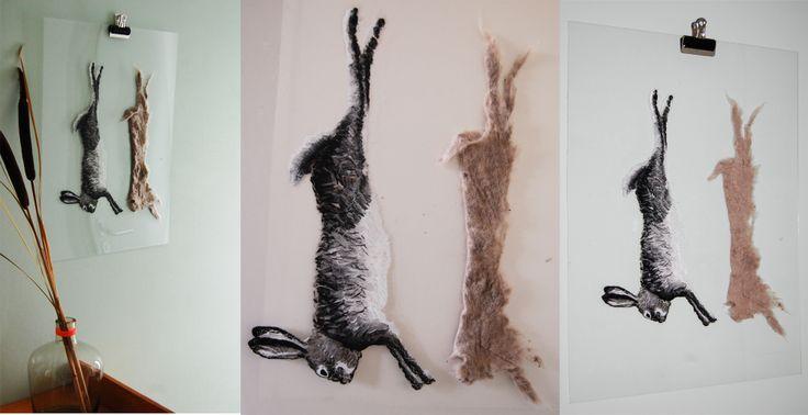 Made by Willemien Mensing Transparant Rabbit/ Konijn