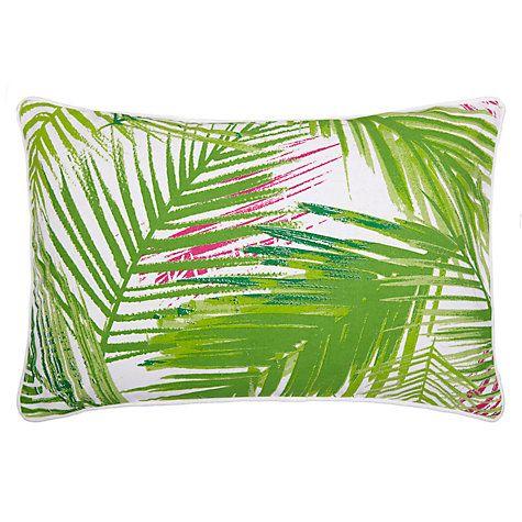 Buy John Lewis Palm Leaf Outdoor Cushion, Light Green Online at johnlewis.com #FashionYourHome