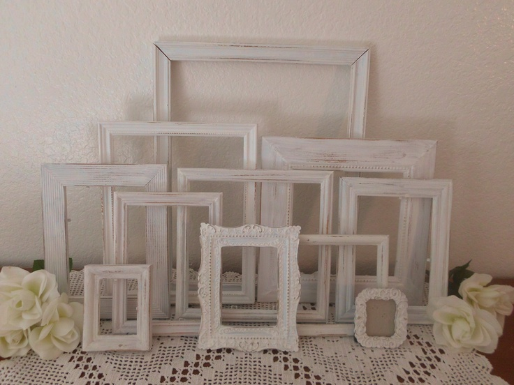 white shabby chic frame set picture photo beach cottage. Black Bedroom Furniture Sets. Home Design Ideas