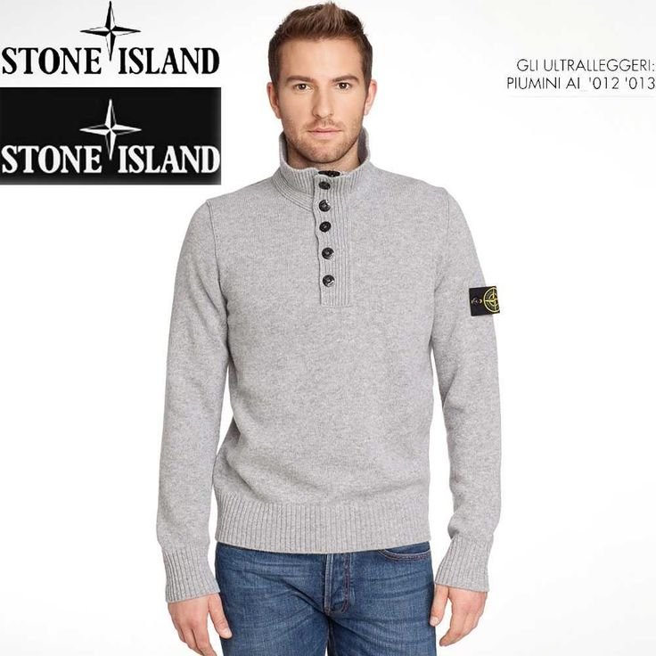 Stone Island Stand-collar Men Sweaters in Gray up to 70% off‎