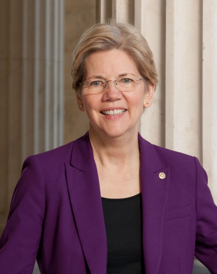 Sen. Elizabeth Warren.  Fierce advocate of financial regulation, fair public investment policy and consumer protection.  The best.