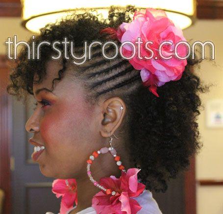 natural curly hair styles | thirstyroots.com: Black Hairstyles and ...Nature Curls, Curly Hairstyles, Pink Flower, Black Hairstyles, Style Hair, Nature Style, Curly Hair Style, Nature Curly Hair, Nature Hair