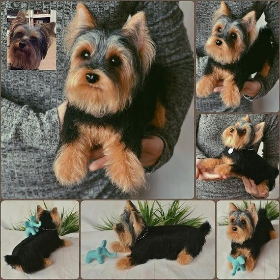 Needle Felted Yorkshire Terrier Custom Pet Needle Felted Dog Etsy In 2020 Felt Dogs Needle Felted Dog Dog Sculpture