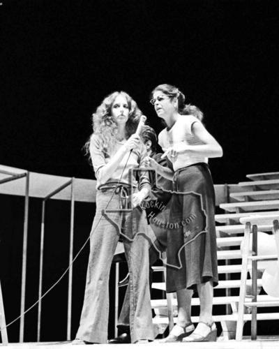 Saturday Night Live Cast (John Belushi, Dan Aykroyd, Jane Curtain, Laraine Newman, Garret Morris & Gilda Radner) - Aug 3, 1976 at Miller Outdoor Theater - Rockin Houston