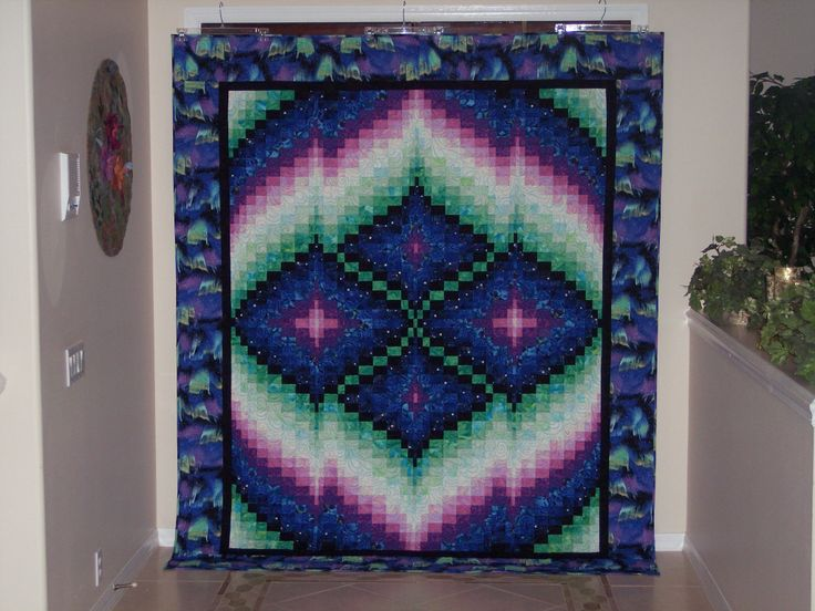 Northern Lights Bargello Quilt (pattern by Nancy Smith ...