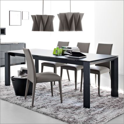 Calligaris omnia glass 180 extending table by studio tecnico calligaris london designer furniture