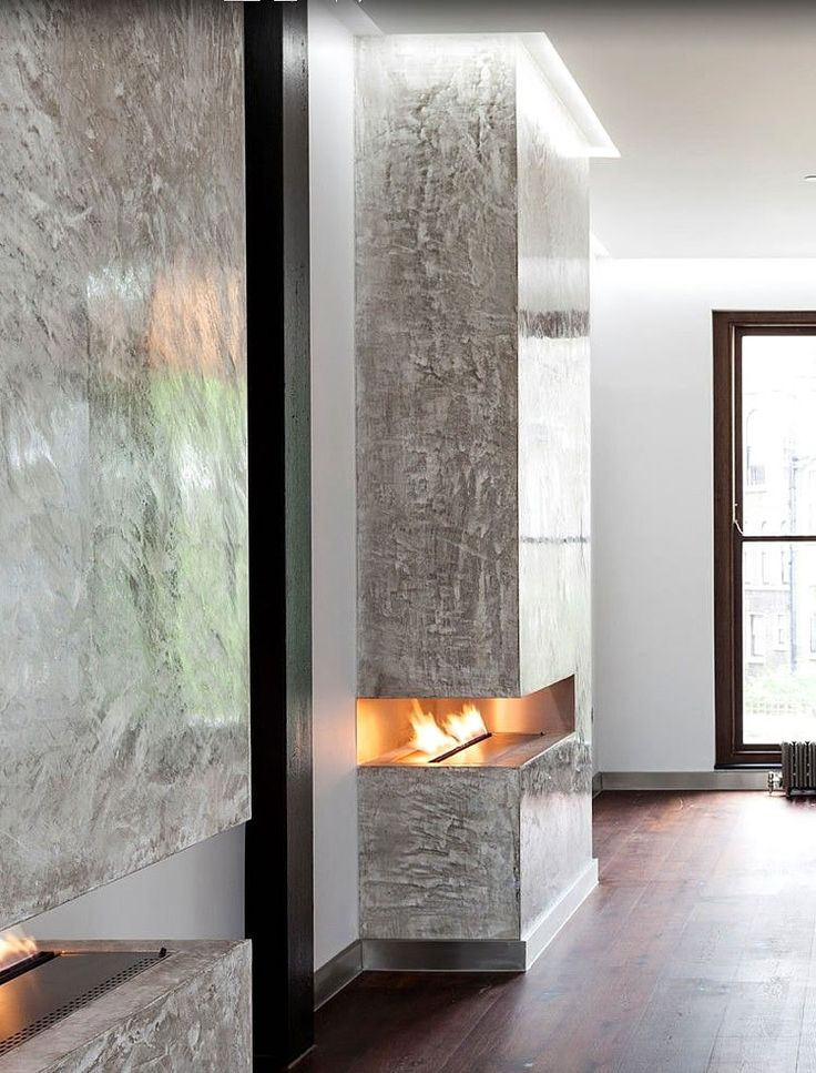 Beautiful polished plastered walls from a Notting Hill, London home