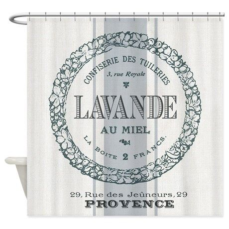 Vintage French Lavender Shower Curtain on CafePress.com