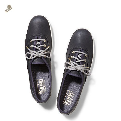 Keds Champion Burnished Leather Dark Gray Womens Fashion Sneaker Size 8M - Keds sneakers for women (*Amazon Partner-Link)