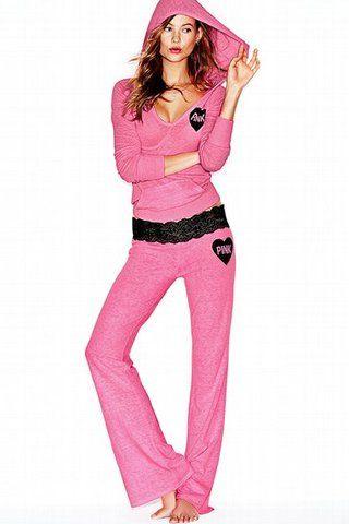 Victoria Secret Pink Clothing | Victoriau0026#39;s Secret Pinku00ae Lace-waist Lounge Pant (Clothing ...